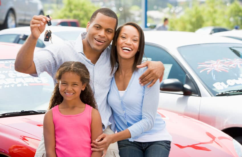 family after buying car