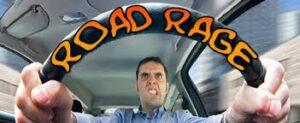 road rage while drive a car