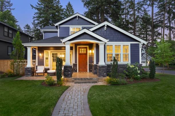 Gray suburban home