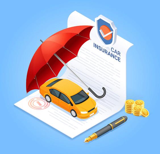 Car insurance paperwork.